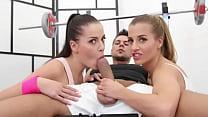 Real Twins Have Dream 3Some In The Gym - Eveline Dellai & Silvia Dellai