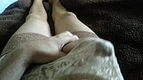 Jerking in panties and stockings