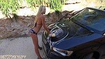 xvedioscom - Sexy German Carwash Camgirl thumbnail