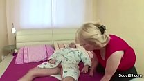 Milf Mother Seduce Young Step-Son to Fuck her with Blowjob