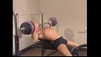 Darkhaired  workout fanatic Karl Thomas explains newcomer member David Griffin code of behavior in the club