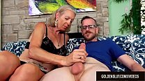 Tall Granny Super Sexy Has Her Tight Asshole Re...
