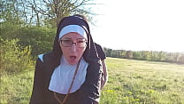 This nun gets her ass filled with cum before she goes to church !!