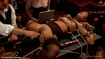 Slaves anal fucked and cummed at party
