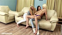Three hot lesbians take turns on each other on Sapphic Erotica Image