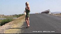 Image: Erotic and nude in public on the road video