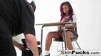Classroom lesbians with Skin and Alison
