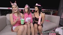 Bachelorette foursome sex party video thumbnail
