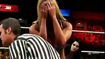 Ref face fucks Charlotte Flair in hot 3 way WWE...