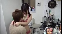 Japanese college girl visits boyfriend's home Preview