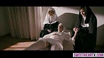 Innocent hot nuns cant resist their lesbian tem...