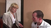 Amateur mature blonde anal fucked hard at office's Thumb
