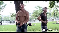 Pretty flower guy is sucking gay stud's schlong hungrily