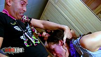 Hot french Brunette Lou Charmelle hard anal fuc...