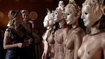 Katrina Law Com pletely naked and wearing a ma nd wearing a mask uploaded by ce
