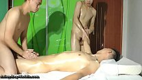 Horny 4 Hands Male Massage