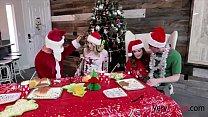 Christmas Family Orgy- Charlotte Sins & Summer Hart
