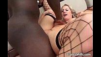 Big breasted blonde slut enjoys black
