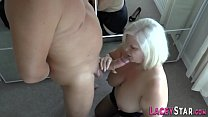Granny rides and tit fucks big dick صورة