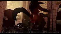 Demon riding cock