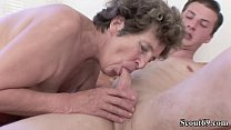 73yr old Hairy Granny Seduce to Anal Fuck by 18...