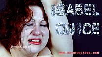 Isabels Deans whipping to tears and electro bdsm of crying amateur slave girl
