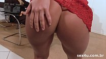Thaina Perez and Agatha Cristine in orgy exchanging cum in mouth