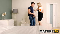 MATURE4K. Blonde mature takes cock in shaved hole instead of math lessons