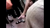 Asian milf expert dangle on F train pornhub video