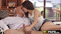 Handsome babe plowed hard and fast by beefy older man