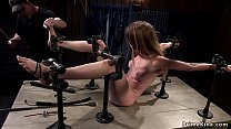 Immobilized in metal device brunette caned