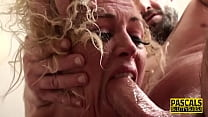 Throated busty sub milf gets anally banged
