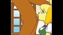 Image: Superdeepthroat by a female dog (Cartoon)