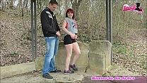 Jogger fickt deutsche kurvige rot haarige teen outdoor thumbnail
