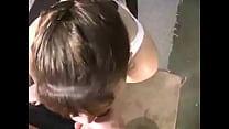 Cumshot on hair