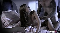 Girls night of two teens turns threesome with stepbro