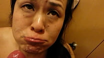 japanese milf sucking dick and cumshot swallow facial