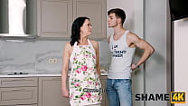 SHAME4K. Alluring mature hottie agrees to hook up with the playful guy