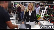 Amateur does a irrumation stimulation in the store and she humps
