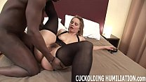 I am going to gag on his black cock while you w...