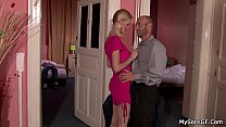 Czech blonde cheating with oldman