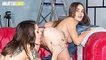 AMATEUR EURO - Gorgeous Spanish Lesbians Are Going Wild On Cam (Alexa Nasha & Sandy Alser)