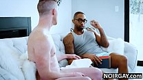 Black hunk fucks his white gf's gay brother