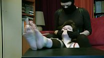 Tied and tickled by masked kidnapper thumbnail