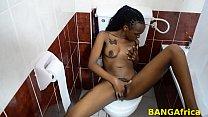 Sexy girl masturbates in the bathroom