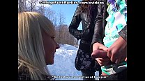Partying girls in sucking and sexy college fucking on snow image