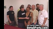Hot Ebony Kaitlyn's 7 White Cock Bukkake Gangbanging