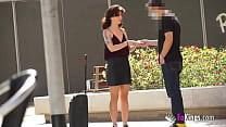 Teenage babe Silvia Soprano hunts guys in the street