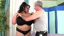 Giant boobed asian BBW Miss Lingling gets a sex massage porn image