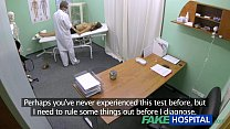 FakeHospital Hot girl with big tits gets doctors treatment before squirting preview image